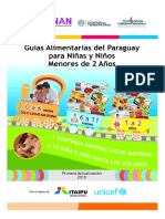 Guia Alimentaria Del Py Para Niñas y Niños Menores de 2 Años (2015)