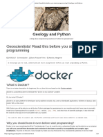 Geology and Python-Read This Before You Start Programming _