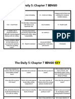 the daily 5 chapter 7 bingo
