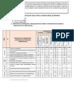 Planificación Anual Para El Primer Grado de Primaria
