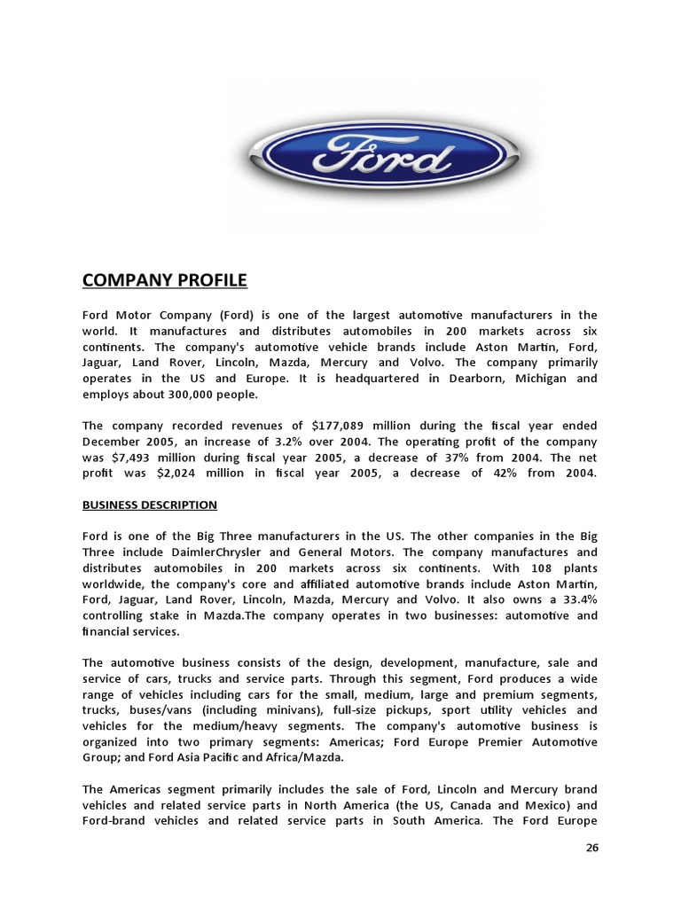 Ford ford motor company lincoln motor company