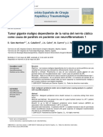2010 Tumor gigante maligno dependiente de la vaina del nervio ciático como causa de parálisis en paciente con neurofibromatosis 1