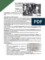 Historia de La Firma de La Paz en Guatemala