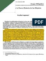 Lagunas cecilia -Nueva Historia de Las Mujeres