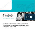 Planificación Anual Con El Nuevo Currículo Nacional de La Educación Básica 2017.