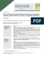 2010 Rotura del fascículo medial del flexor hallucis brevis secundaria a entesitis calcificante distal