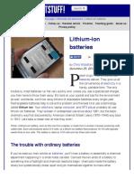 How Do Lithium-ion Batteries Work? - Explain That Stuff