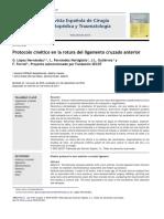 2011 Protocolo cinético en la rotura del ligamento cruzado anterior