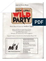The Wild Party (Lippa) - Libretto Only