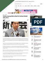 Politisi Jepang Minta Maaf Ke Korban Budak Seks PD II