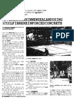 Aplications in New Zealand Using Steel Fibre Reinforced Concrete