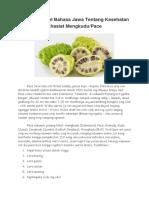 Contoh Artikel Bahasa Jawa Tentang Kesehatan