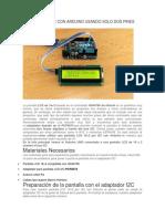 Uso I2C Pantalla LCD16x2