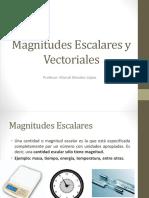 1.- Magnitudes Escalares y Vectoriales