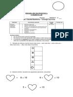 Prueba Matematica Unidad 3 2017