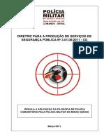 DPSSP 3.01.06.2011 - Regula Aplicacao Filosofia de Policia Comunitaria