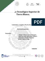 Reporte de Microcontroladores