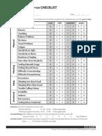 c Post Concussion Checklist