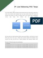 Failover 2 ISP Load Balancing PCC Tanpa Netwatch