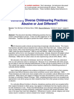 Culturally Diverse Child Rearing Practices Abusive or Just Different