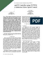 Estudio de Un Controlador Pi y Fuzzy Para Velocidad de Un Motor Utilizando Svpwm