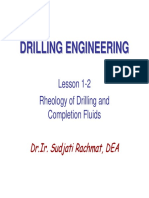 1-02 Rheology of Drilling and Completion Fluids