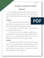 Instrucciones Para El Comentario de Textos Literarios