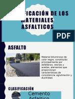 Clasificación de los materiales  asfalticos