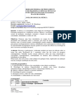 Plano de Ensino-Sociologia Do Som e Da Música2018..1