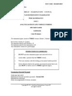 2013 Specimen Paper Unit 2 Paper 3B