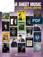 Popular Sheet Music_ 30 Hits From 2014-2016