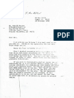 L. Ron Hubbard 1980 Letter to Ronald Reagan