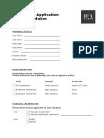 Ifa Paris Scholarship Application Form
