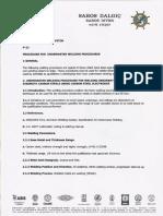 Procedure for Underwater Welding Procedures