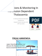 Complications in Transfusion Dependent Thalasaemia