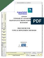 Dewatering Construction Procedure