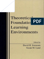 David H. Jonassen, Susan Land-Theoretical Foundations of Learning Environments-Routledge (1999)
