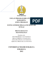 Usulan Program Kreativitas Mahasiswa (Cover)