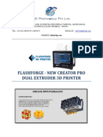Flash Forge Creator Pro Plus 3d Printer
