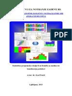 Statistično programsko okolje R in Rstudio za analizo ter vizualizacijo podatkov