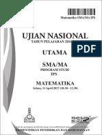 Un Sma Matematika Ips 2017