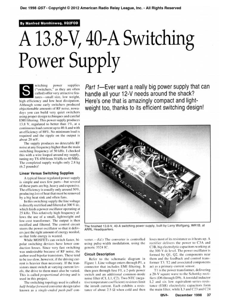 Xq2fod Switching Power Supply Printed Circuit Board Transformer Diagram Part 2