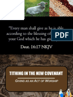 Tithing in the New Covenant Part 3