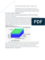Photovoltaics Cells Theory