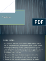 Problems with file system data processing