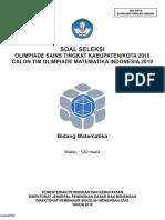 OSK 2018 Matematika (Soal)