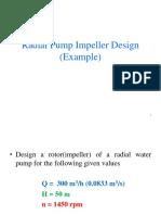 Radial Pump Impeller Design Example