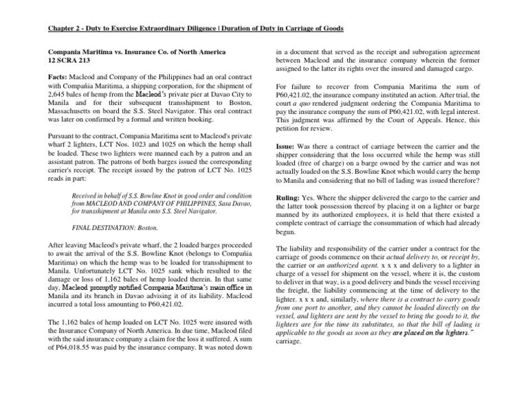 Chap 2 Compania Maritima Vs Insurance Company Of North America 1