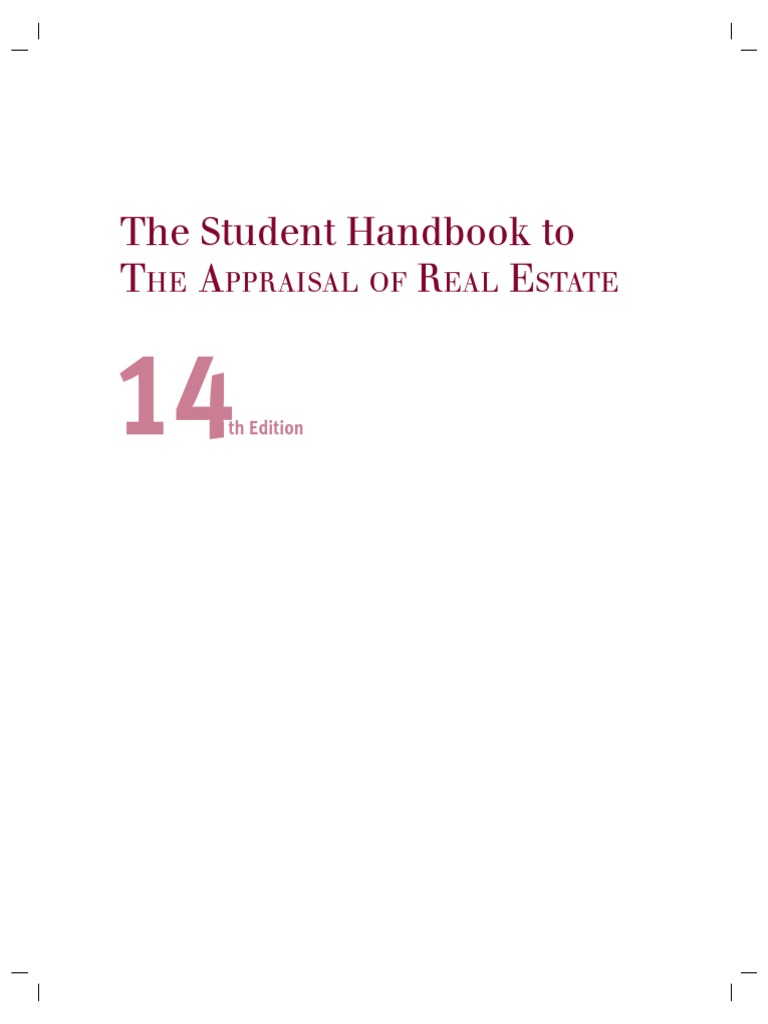 student handbook to appraisal of real estate 14th pdf real estate rh scribd com Marshall and Swift Residential Handbook 1434 Marshall Street