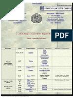Tesorillo - Emperadores Romanos (Cronología)